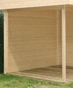 Wolff Finnhaus Holz Gartenhaus Varianta Geschlossene Rückwand Naturbelassen 350 x 250 cm