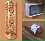 Wolff Finnhaus Saunaofen-Set 9 KW mit integrierter Steuerung für alle Saunafässer basic + de luxe