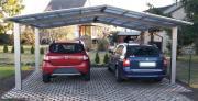 Ximax Design-Carport Linea Kombi. Typ 60 M-Ausführung Edelstahl-Look L 4,95 m x B 5,46 m