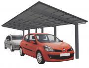 Ximax Design-Carport Linea Kombination Typ 110 Tandem Schwarz L 9,83 m x B 2,73 m
