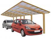 Ximax Design-Carport Linea Kombination Typ 110 Tandem Bronze L 9,83 m x B 2,73 m
