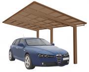 Ximax Design-Carport Linea Typ 110 Bronze aus Aluminium L 4,95 m x B 3,02 m