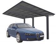 Ximax Design-Carport Linea Typ 110 Schwarz aus Aluminium L 5,56 m x B 2,43 m