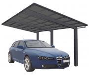 Ximax Design-Carport Linea Typ 110 Standard Schwarz aus Aluminium L 4,95 m x B 2,73 m