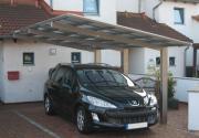 Ximax Design-Carport Linea Typ 170 Bronze aus Aluminium L 4,95 m x B 2,43 m