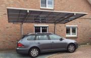 Ximax Design-Carport Linea Typ 60 Edelstahl-Look aus Aluminium L 5,56 m x B 2,73 m