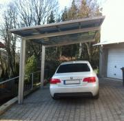 Ximax Design-Carport Linea Typ 60 Edelstahl-Look aus Aluminium L 4,95 m x B 3,02 m