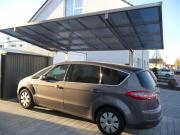 Ximax Design-Carport Linea Typ 60 Schwarz aus Aluminium L 5,56 m x B 2,73 m
