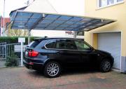 Ximax Design-Carport Linea Typ 80 Bronze aus Aluminium L 4,95 m x B 2,43 m