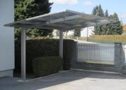 Ximax Design-Carport Linea Typ 80 Bronze aus Aluminium L 4,95 m x B 3,02 m