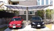 Ximax Design-Carport NEO Typ 90 Y-Ausführung Edelstahl-Look L 5,55 m x B 4,91 m x H 2,74 m