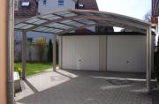 Ximax Design-Carport Portoforte Kombi. Typ 60 M-Ausführung Edelstahl-Look L 4,95 m x B 5,42 m