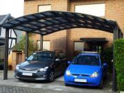 Ximax Design-Carport Portoforte Kombi. Typ 170 M-Ausführung Edelstahl-Look L 4,95 m x B 5,42 m