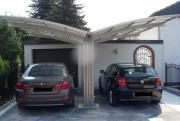Ximax Design-Carport Portoforte Kombi. Typ 170 Y-Ausführung Edelstahl-Look L 4,95 m x B 5,43 m