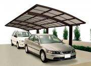 Ximax Design-Carport Portoforte Kombination Typ 80 Tandem Edelstahl-Look L 9,83 m x B 2,70 m