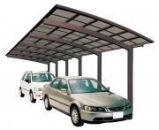 Ximax Design-Carport Portoforte Kombination Typ 110 Tandem Mattbraun L 9,83 m x B 2,70 m