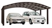 Ximax Design-Carport Portoforte Kombination Typ 110 M-Ausführung Mattbraun L 4,95 m x B 5,42 m