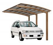 Ximax Design-Carport Portoforte Typ 110 Standard Bronze aus Aluminium L 5,56 m x B 2,70 m