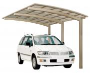 Ximax Design-Carport Portoforte Typ 110 Standard Edelstahl-Look L 4,95 m x B 2,41 m