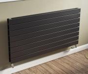 Ximax Design-Heizkörper Raum-Heizkörper P1 Duplex horizontal 59,5 x 120 x 7,4 cm 1472W Stahl anthrazit RAL7016