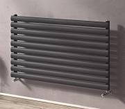 Ximax Design-Heizkörper Raum-Heizkörper Fortuna horizontal 58,4 x 120 x 5,5 cm 790W Stahl anthrazit RAL7016