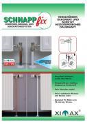 Ximax Design-Heizkörper Zubehör Accessoires Schnappfix Rohrverkleidung 3-fach 100cm