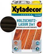 Xyladecor Holzschutzlasur 2in1 Ebenholz 2,5 l