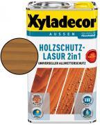 Xyladecor Holzschutzlasur 2in1 Wetterschutz-Farbe Eiche 2,5 L