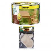 Xyladecor Teak-Pflege-Gel 500 ml + Pflege-Handschuh